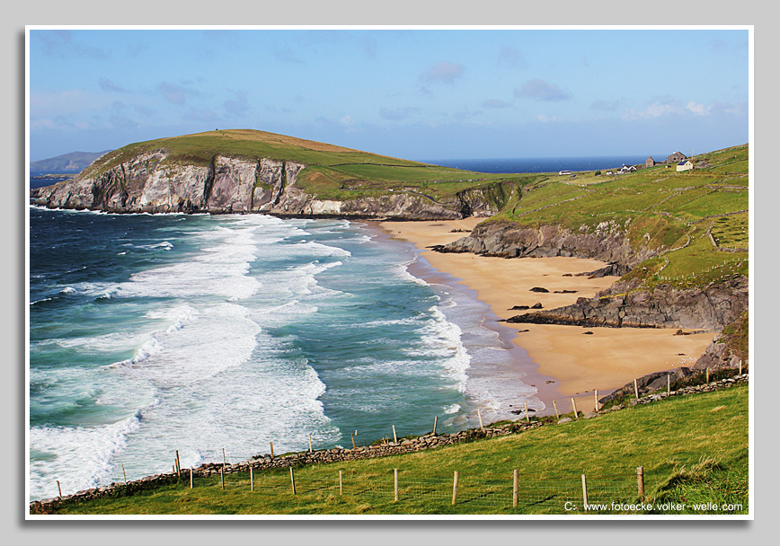 Coumeenoole Beach mit Dunmore Head, Dingle Peninsula, County Kerry, Irland